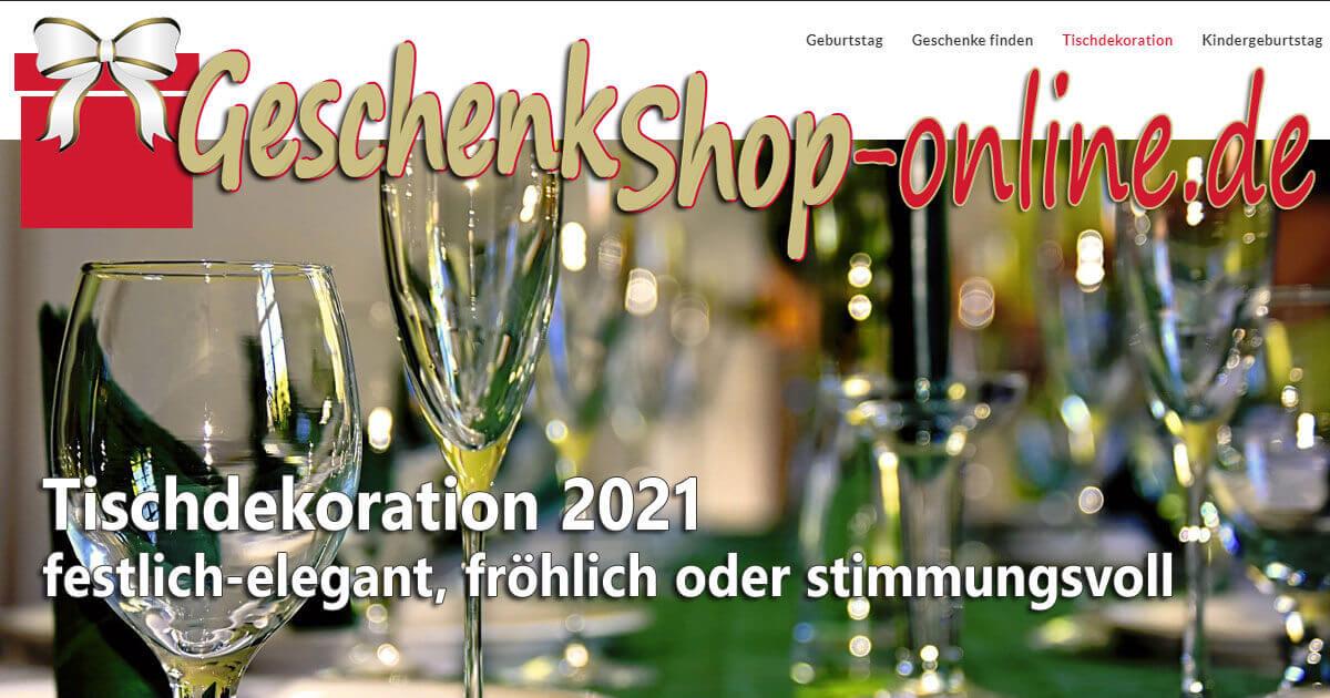 Tischdeko 2021 - festlich-elegant, fröhlich oder stimmungsvoll